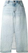 Alexander Wang cutaway front denim skirt - women - Cotton - 26