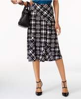 NY Collection Jacquard A-Line Skirt