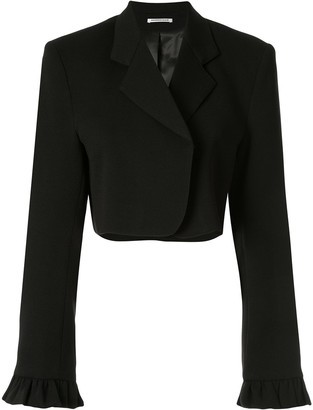 Georgia Alice Ruffled Cropped Blazer