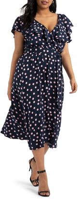 ELOQUII Flounce Bodice Dress