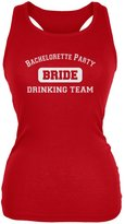 Tee's Plus Bachelorette Party Drinking Team Bride Juniors Soft Tank Top