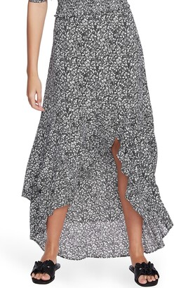 1 STATE Floral Print High/Low Skirt