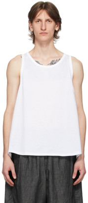 Fumito Ganryu White Watteau Pleats Tank Top