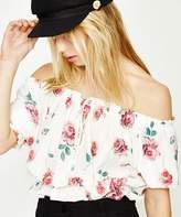 Don't Ask Amanda Carrie Off Shoulder Top Dusky Floral