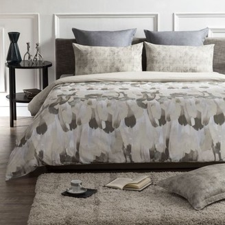 """A1 Home Collections A1HC Safari Reversible Print 100% Organic Cotton Wrinkle Resistant Duvet Cover and Sham Set of 2 with Internal Ties and Button Closure, 88"""" x 92"""", Queen, Brown/Beige"""