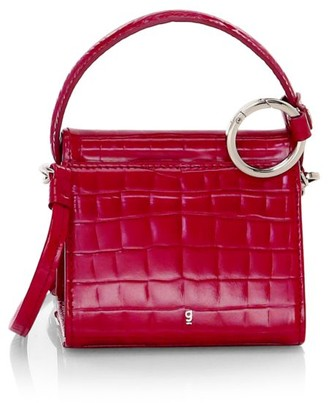 Gu De Mini Play Croc-Embossed Leather Satchel