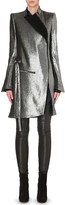 Ann Demeulemeester Metallic linen-blend coat