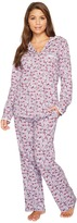 Eileen West Peached Jersey Notch Collar Pajamas Women's Pajama Sets