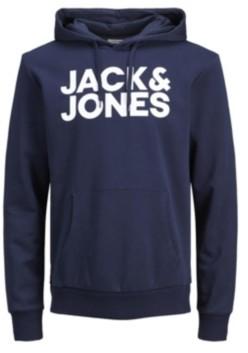 Jack and Jones Men's Logo Long Sleeve Pullover Hoodie