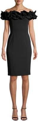 Calvin Klein Ruffled Off-The-Shoulder Sheath Dress