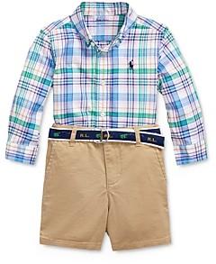 Ralph Lauren Boys' Shirt, Belt & Shorts Set - Baby