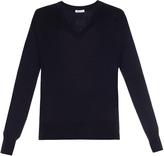Tomas Maier V-neck fine-knit wool sweater