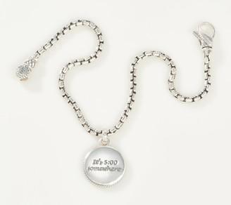 JAI Sterling Silver 2.7mm Box Chain Charm Bracelet