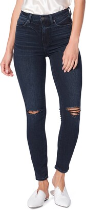 Paige Margot Ripped Ankle Skinny Jeans