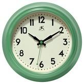 Infinity Instruments Retro Diner Decorative Clock - Green