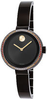 Movado 3600283 Women's Bold Multi-Color Diamond Black Ion Plated SS & Dial