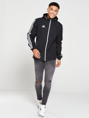 adidas Tiro 3S Hooded Jacket - Black