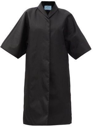 Prada Cropped-sleeve Re-nylon Coat - Black