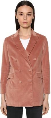 Saulina Double Breasted Cotton Velvet Jacket