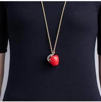 Kenneth Jay Lane Red Apple Pendant