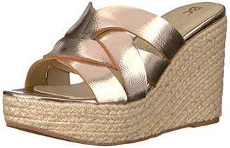 BC Footwear Women's Eden Espadrille Wedge Sandal Medium US