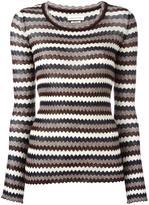Etoile Isabel Marant zigzag pattern jumper - women - Cotton - 38