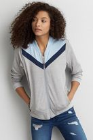 American Eagle Outfitters AE Colorblocked Front Track Jacket