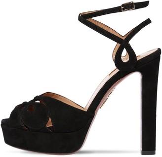 Aquazzura 120mm Gardena Suede Sandals