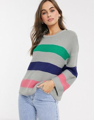 Brave Soul sorbet wide stripe jumper