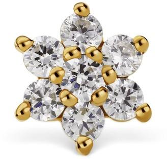 Maria Tash Yellow Gold And Diamond Flower Threaded Stud Earring 5.5Mm