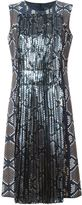 Marc Jacobs pleated panel printed dress - women - Silk/Polyester/Acetate/Rayon - 4