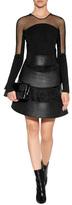 David Koma Sheer Panel Dress