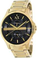 Armani Exchange A|X Men's AX2122 Gold Stainless-Steel Quartz Watch with Dial