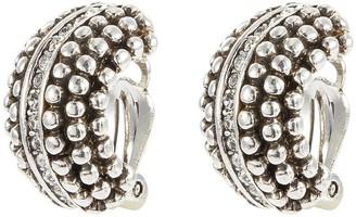 Philippe Audibert 'Del' Swarovski crystal stud curved clip earrings