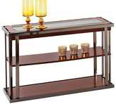 Progressive Medalist Console Table - Black Nickel/Burl Furniture