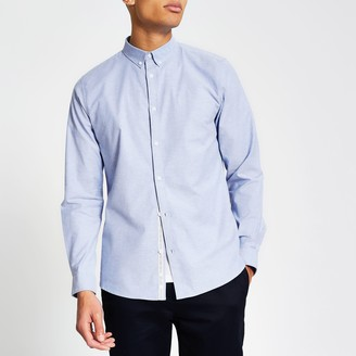 River Island Mens Maison Riviera Blue slim fit Oxford shirt