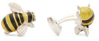 Deakin & Francis Bee Sterling-silver Cufflinks - Yellow