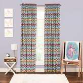 Crayola Mixed Palette Chevron 84-Inch Window Curtain Panel