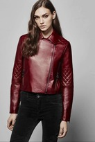 J Brand Adaire Leather Jacket in Oxblood