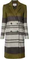 Carolina Herrera colour blocked pea coat - women - Silk/Polyamide/Mohair/Virgin Wool - 2
