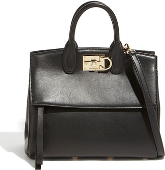 Salvatore Ferragamo Studio Medium Leather Satchel Bag