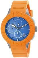 Marc by Marc Jacobs Buzz Track MBM5545 Orange/Blue Analog Quartz Mens Watch
