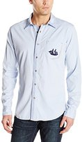 Z-Brand Men's Embroidered Chambray Shirt