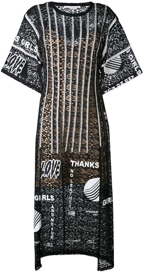 Stella McCartney Thanks Girls print midi dress