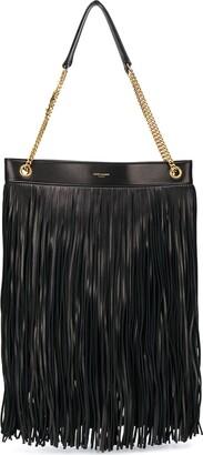 Saint Laurent Fringed Leather Shoulder Bag