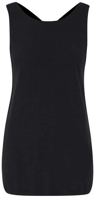Amanda Wakeley Motion Black Twist Cashmere Silk Top