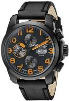 Ingersoll Unisex Automatic Watch with Black Dial Analogue Display and Black Leather Strap IN2301BBKO