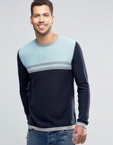 Original Penguin Colour Block Knitted Jumper