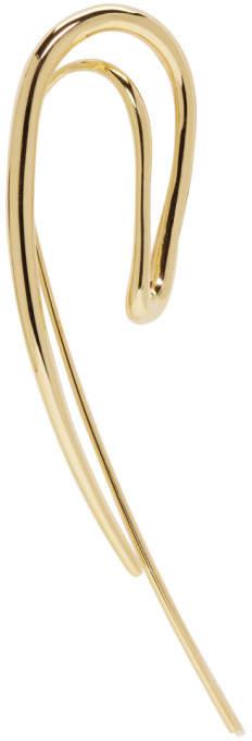 Charlotte Chesnais Gold Single Initial Earring