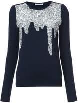 Oscar de la Renta paillette-embellished sweater